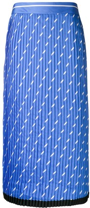 Victoria Victoria Beckham Printed Pleated Skirt