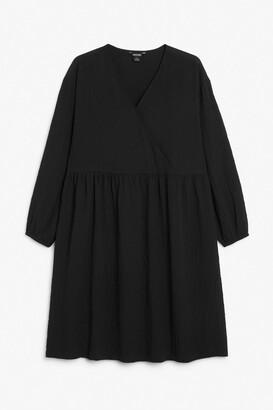 Monki Smock midi dress