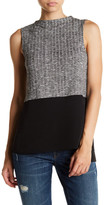 1 STATE 1.State Sleeveless Colorblock Blouse
