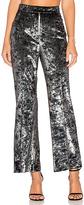 Frankie Velvet Flare Pant in Metallic Silver. - size 2 (also in 4,6)