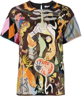Christian Dior Pre-Owned Abstract Pattern Blouse