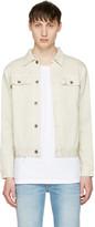 Robert Geller Off-white Denim Jacket