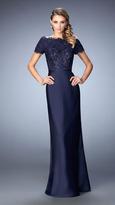 La Femme 21962 Beaded Lace Off-Shoulder Gown