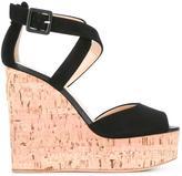 Giuseppe Zanotti Design cork wedge sandals - women - Cork/Leather/Suede - 39
