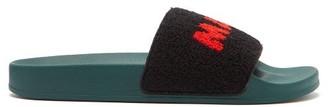 Marni Logo-jacquard Terry Slides - Black