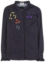Fendi Embroidered Denim Shirt
