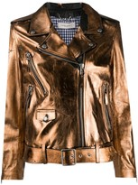 Golden Goose metallic biker jacket