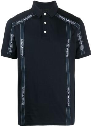 Emporio Armani Logo Trim Polo Shirt
