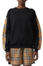 Burberry Bronx Check Sleeve Sweatshirt