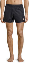 Moncler Swim Trunks with Contrast Piping, Navy