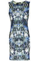 Select Fashion Fashion Womens Multi Futuristic Print Shift Dress - size 6