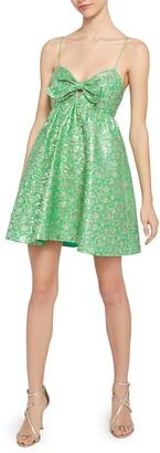 Alice + Olivia Melvina Front Tie Mini Dress