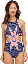 Mara Hoffman Women's Starbasket Knot Front Cut-Out One-Piece Swimsuit