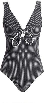 Karla Colletto Swim Coco Polka Dot One-Piece Swimsuit