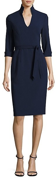 Thumbnail for your product : Black Halo Madeline Tie-Front Sheath Dress