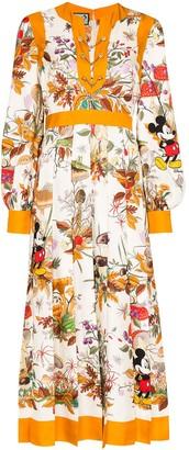 Gucci x Disney floral print midi dress