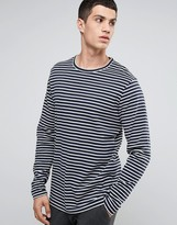 Celio Long Sleeve Breton Striped Top