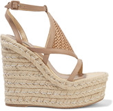 Paloma Barceló Elvira woven leather wedge sandals