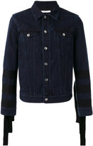 Givenchy sleeve-fringed denim jacket - men - Cotton - S