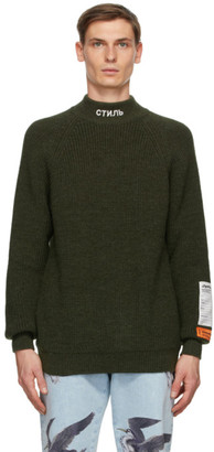 Heron Preston Green Style Chunky Turtleneck