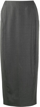 Gianfranco Ferré Pre-Owned 1990s Pinstripe Midi Pencil Skirt