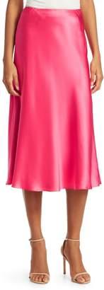 Cinq à Sept Marta Silk Satin Midi Skirt