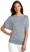 Weston Wear Women's Short Sleeve Back Drop Print Top