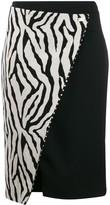 Class Roberto Cavalli zebra print wrap skirt