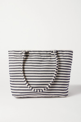 Nannacay Cascata Striped Canvas Tote - Navy