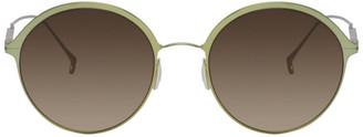 Issey Miyake Green Round 7 Sunglasses