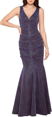 Xscape Evenings Glitter Ruched Mermaid Gown