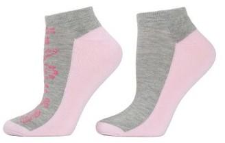 Natori Floral Striped Socks - 2 Pair Pack