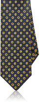 Drakes Drake's Men's Medallion Silk Necktie-NAVY