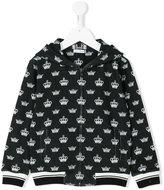 Dolce & Gabbana crown print hoodie - kids - Cotton - 4 yrs