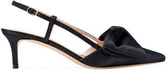 Kate Spade Marseille Bow Satin Slingback Pumps