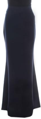 Carolina Herrera Navy Blue Crepe Maxi Skirt S