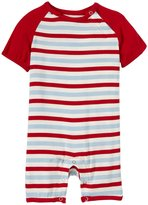 Kickee Pants Print Raglan Romper (Baby) - Balloon Stripe-18-24 Months