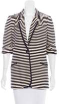 Elizabeth and James Woven Striped Blazer