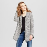 Mossimo Women's Hacci Cardigan Black and White Print