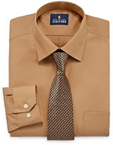 STAFFORD Stafford Travel Easy-Care Long Sleeve Shirt and Tie Set