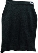 Chanel Grey Cashmere Skirt for Women Vintage