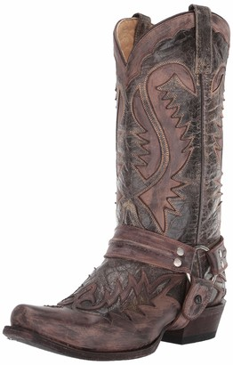 Stetson Men's Outlaw Distressed Harness Riding Boot