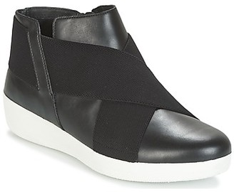 FitFlop SUPERFLEX ANKLE BOOTS women's Shoes (High-top Trainers) in Black