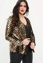 Missguided Gold And Black Sequin Jacket