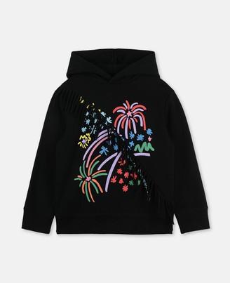 Stella Mccartney Kids Stella McCartney fireworks cotton hoodie