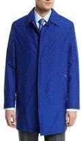 Brioni Silk-Blend Car Coat, Blue