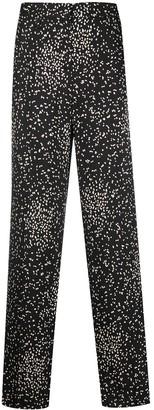 Luisa Cerano Irregular Polka-Dot Print Flared Trousers