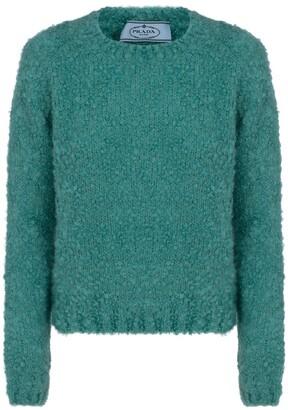 Prada Round Neck Textured Sweater