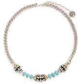 Anton Heunis Swarovski crystal filigree floral charm necklace