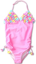 Kate Mack Hula Flowers Swimsuit (Big Kids) (Pink) - Apparel